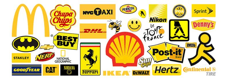 A influência das cores nas marcas - cor amarelo