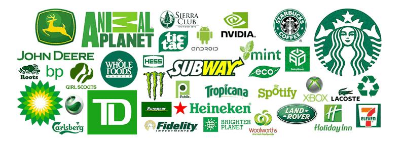 A influência das cores nas marcas - cor verde