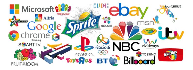 A influência das cores nas marcas - colorida