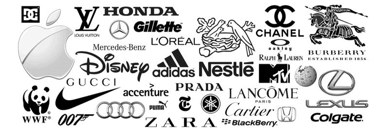 A influência das cores nas marcas - cor preta-cinza-branca