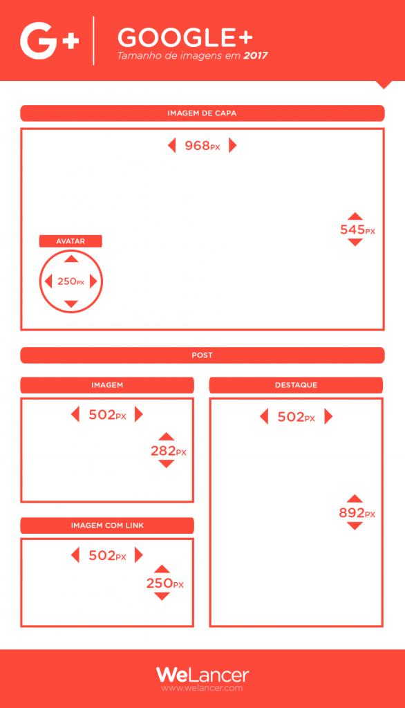 Formatos para redes sociais - GOOGLE +